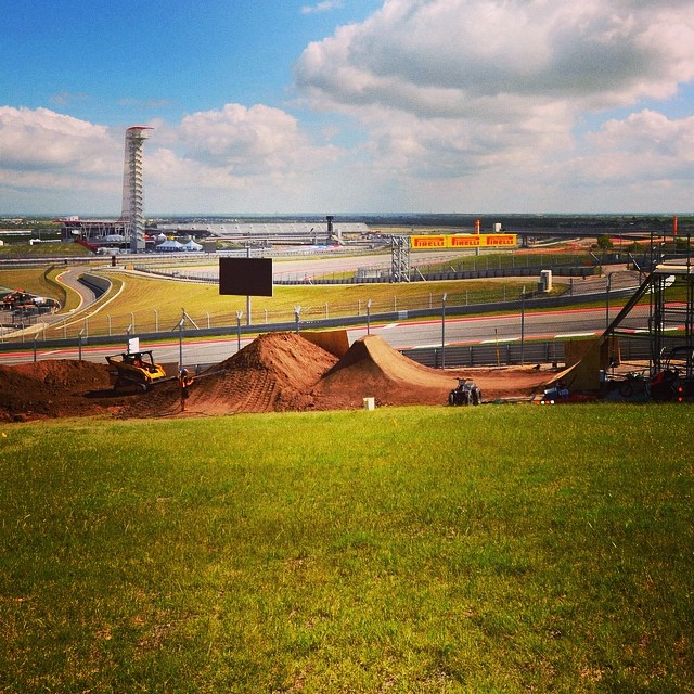 Taking in the view from the start of BMX Dirt! Photo -> @cota_official  #xgamesaustin