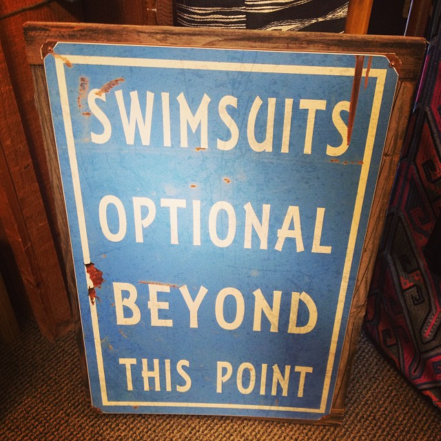 Loving this sign we saw at @hansensurfboards today in Encinitas. #localhoneyswim #coastal #hwy101 #hansenssurfboards #Encinitas #California #sandiego #roadtrip #postbop #ocean #waves #reversible #swim #bikini #activeswim #stayson #noneckpain #supyoga...