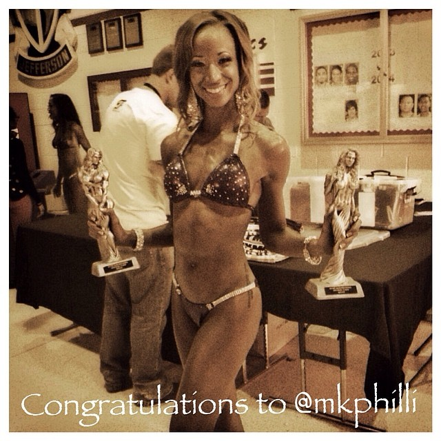 Congratulations to our first sponsored athlete @mkphilli!! Last weekend competed in her second Bikini Fitness Competition in Rockford, IL. She placed 3rd in her height class and 4th in the masters class. She is now qualified for nationals! Way to go...