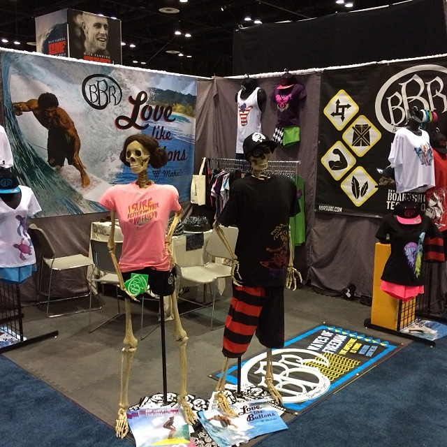 The show is on.  See you here at Surf Expo booth 3129 #bbr #bbrsurf #buccaneerboardriders #surfexpo2014 #surfwear