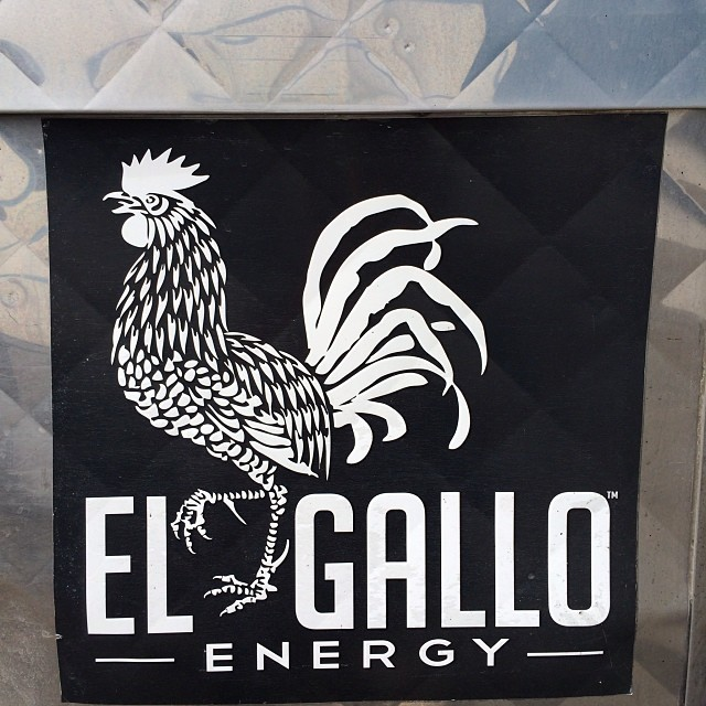 There are so many energy drinks out there.  This was on a lunch truck outside our production facility.  Awesome! #bbr #bbrsurf #buccaneerboardriders #energydrink #therooster #elgallo