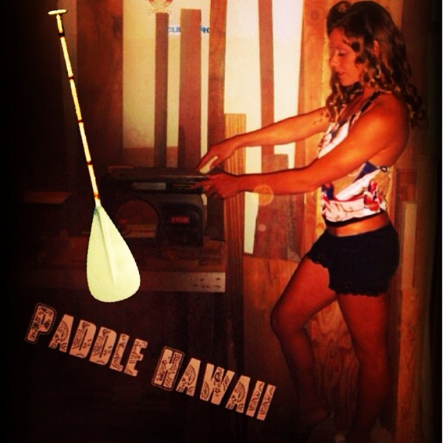 Order your custom paddle and Donica will be sure to give it her #blessing @swellliving #supermodel #paddlehi #bamboopaddle #naturescarbonfiber #authenticityisnotdead #handmade #grasspaddle #lightweightbutnotalightweight #donicashouse @standupjournal...