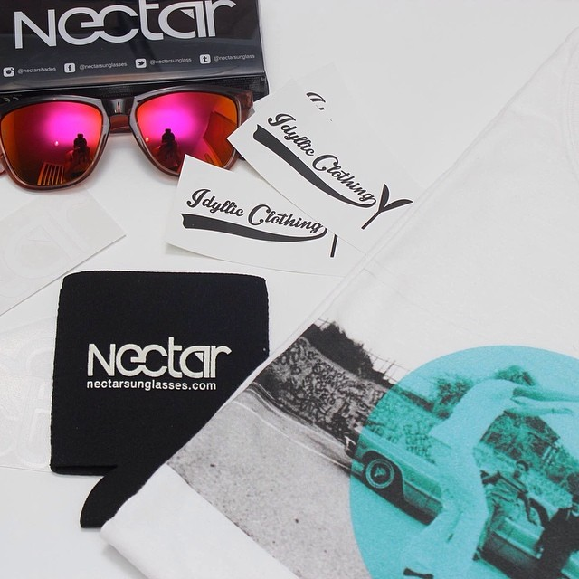 Tag a friend to enter our giveaway with @idyllicclothing! Win some sunnies and a shirt of your choice for you and a friend! Winner chosen tomorrow at 3 pm et || #nectarshades #thesweetlife #contest