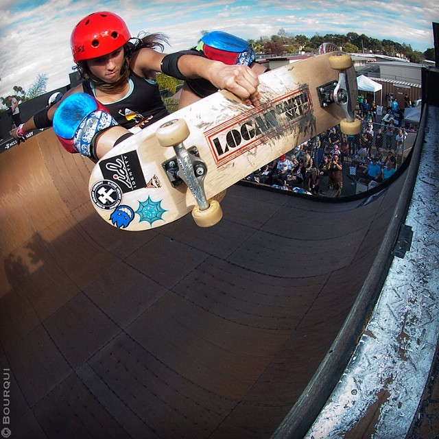 #ThrowbackThursday to Arianna Carmona (@flying_arianna) at #Exposure2013. She won both the am #vert and #bowl contests and skated away with a free week at @woodwardwest as the top amateur (for the second straight year!). #tbt #skate #skatelife...