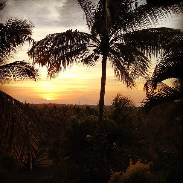 Sunset in Lombok, Indonesia.