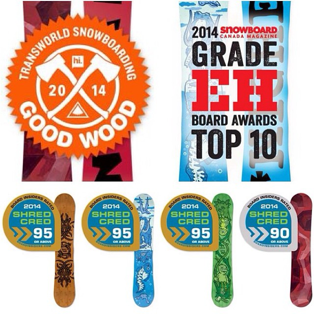 Stoked to have won some awards for the next year's boards! See all about these 2014 awards at nichesnowboards.com/awards