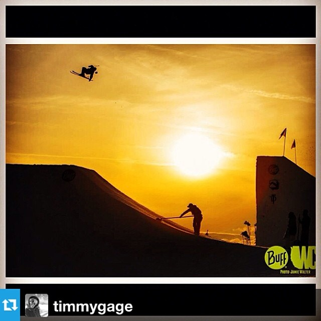#Repost from @timmygage winning the awesome photo of the day award. Nice work @ns1337 --- Another sunset photo from the @westcoastsession jump this year  A ton of wild tricks gettin thrown down during this session! #wcs8