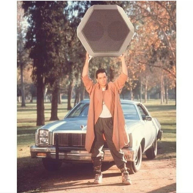 We have come a LONG way since the #boombox #tbt #throwback  #johncusack #boombotix