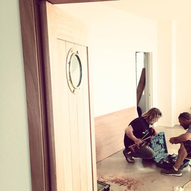 @masondm making doors happen at #theblackspot ... Official store opening in Del Mar on June 7 #lovematuse