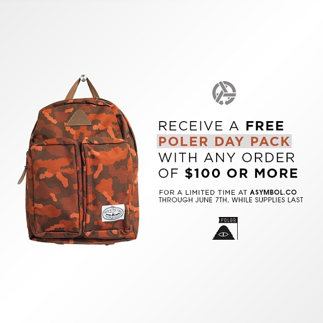 Hope you're crushing this Memorial holiday weekend. We want to hook you up with a new  @polerstuff Day Pack just in time for summertime adventures. Valid everywhere, while supplies last. Head over to Asymbol.co for the goods. Ends June 7th....