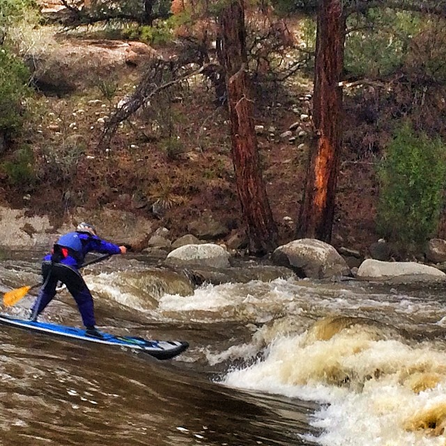 Tip of the day...don't paddle passed the finish line into a class 3 wave at CKS PADDLEFEST SUP RACE.