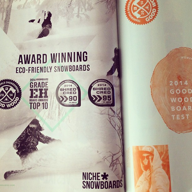We won a 2014 Good Wood Award from @twsnow! #twgoodwood