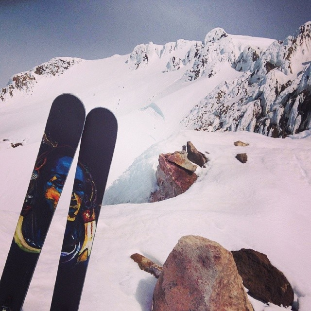 @benmckinleypdx showing off the view from #mthood with his new #snowwarriors today