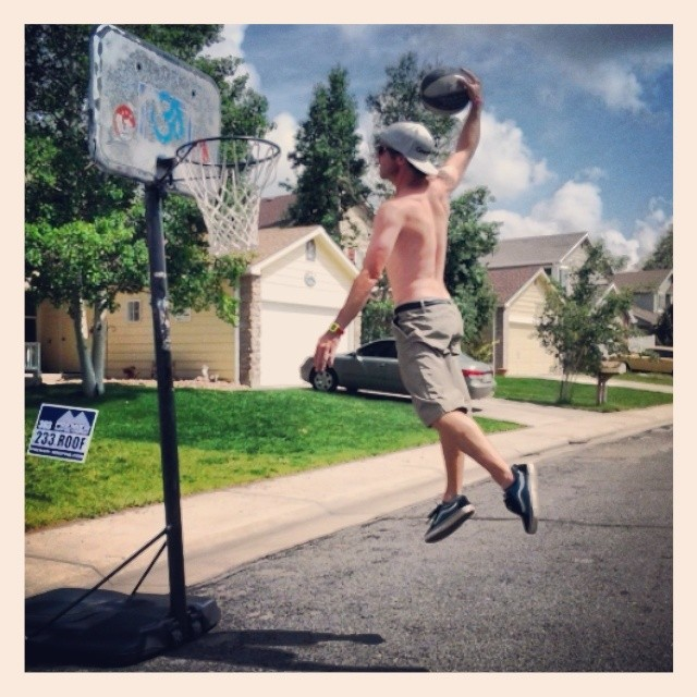 Just another day getting my dunk on. #todaywasagoodday #streetball