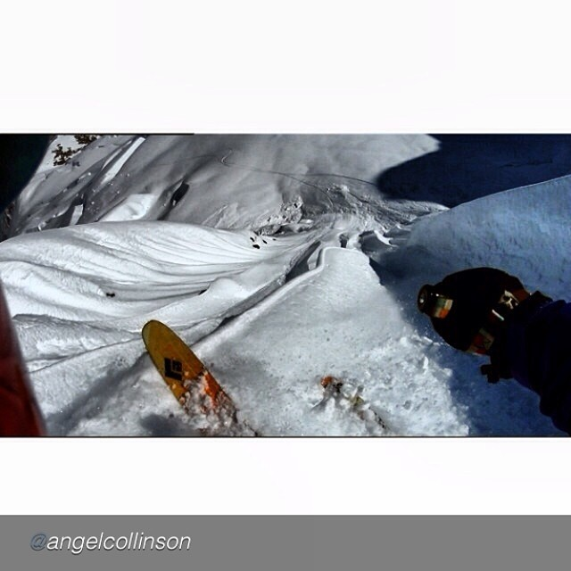 "While filming on location with TGR last month, Angel Collinson charges into an Alaskan face with a Sony Actioncam on her head, Panda Poles in hand, BD Megawatts on her feet, and ""6 foot high runnels"" all around... So gnar! #TRIBEUP Angel!  Regram from..."