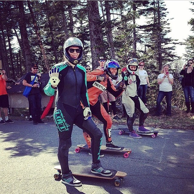 #regram from @pushculture family picnic women's heat - @idfracing Burke Mtn, VT @717kfry @cassandradutchesne @emilylongboards