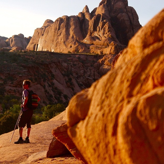 """Remember that time spent on a rock climb isn't subtracted from your life span."" -- Will Niccolls  @mhundhammer isn't worried as he watches the #Moab subset.  Learn more about Soul Poles #TrekkingPoles by following the link in our profile // PC:..."