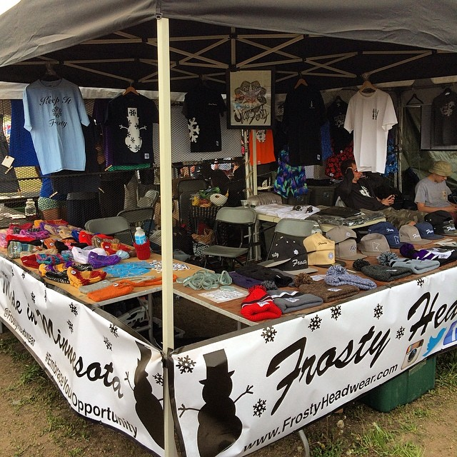 Great day @soundsetfestival. Thank you to everyone that stopped by the booth and supported! #embraceyouropportunity #frostyheadwear #getbusyliving