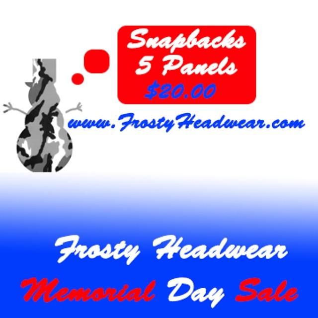 www.frostyheadwear.com ⛄️ #frostyheadwear #snapback #5panel #snapbacks #5panels #fivepanel #hats #memorialday #sale
