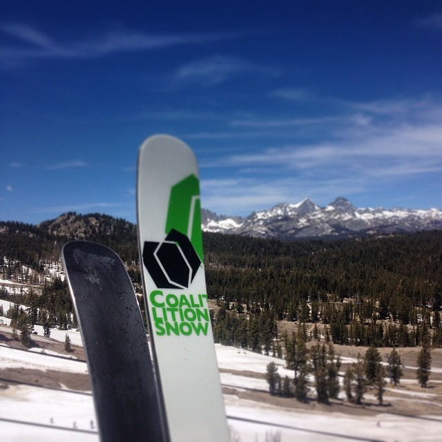 While @tahomajillian was slaying #Shasta this weekend, some of our crew was at @mammothmountain soaking up the rays and giving these #park #skis a whirl. Sounds like there's plenty of good stuff still out there so get get some corn before it's all...