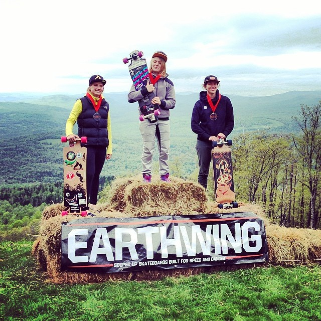Ladies podium! #pcfp14 presented by #earthwingskateboards