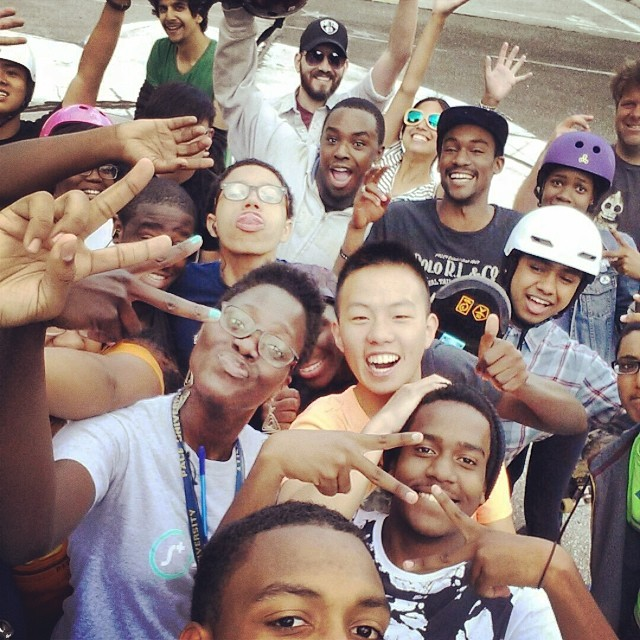 STOKED NYC finished out our spring skate mentor season on Saturday with an epic #selfie shot. #skatementor #stokedny #nyc #newyorkcity #awesomepeople #doingawesomethings
