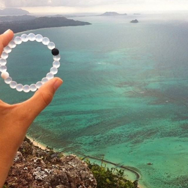 "Our company's name, lokai, originates from the Hawaiian word ""lokahi"" which means Unity and the blending of opposites.  Thanks for the breathtaking photo in Hawaii @katietrenk"