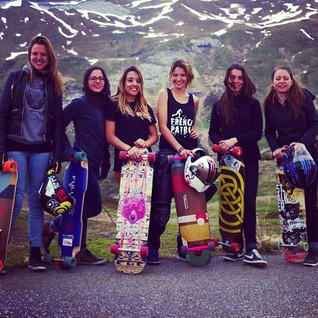 The french ladies! #FrenchPatrol was ace this past weekend. Full report coming soon! #longboardgirlscrew #lgcfrance #girlswhoshred