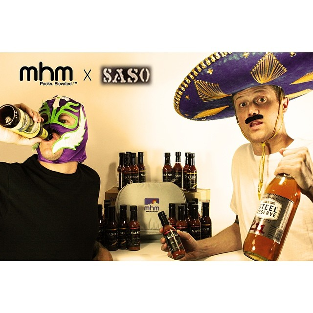"This Cinco de Drinko we have teamed up with fellow Colorado company, @saso_brand sauces to bring you a real treat... Those that give each brands FB page a ""like"" will be entered to win an MHM Snack Stacker filled with Saso's delicious hot sauce! Trust..."