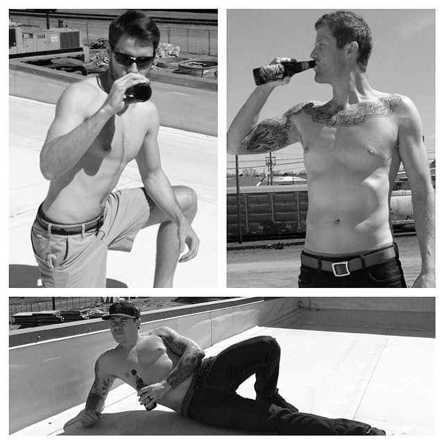 75 degrees in Denver... Even hotter on the MHM rooftop! #mhmmancandy #toopaleforcolor #basetan #roofbeerbreaktime #donttakeusseriously #moobs