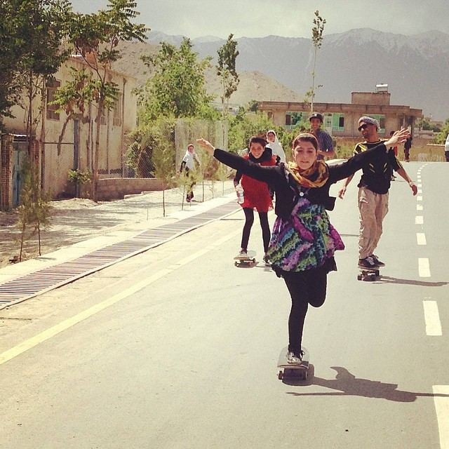 "Free and flying - two simple words that completely capture the essence of #skateboarding. From @skateistan's Facebook page: """"When I'm up there I feel free, like I'm flying. I like that feeling a lot."" - Hanifa, 14, Skateistan Youth Leader"" #skate..."