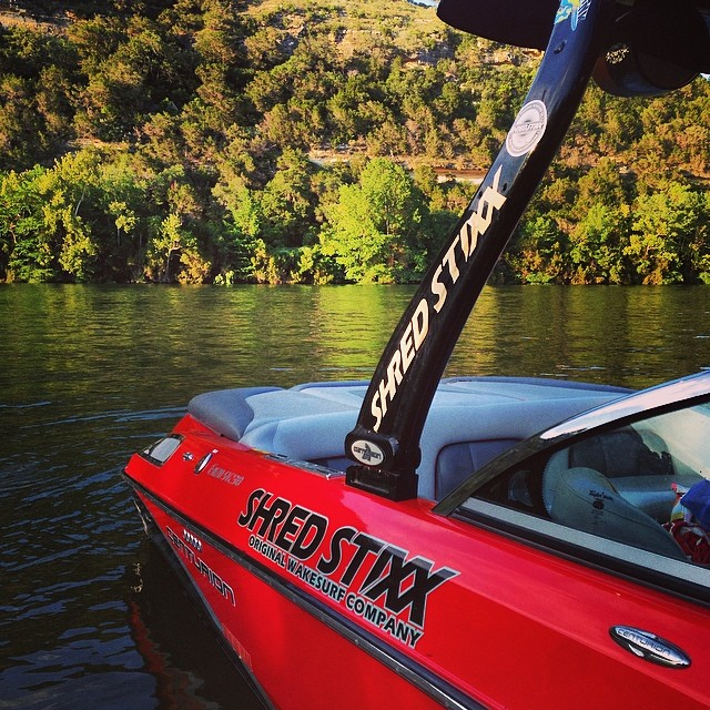 Ready for another season of shred! Book private lessons and group surf sessions on Lake Austin sessions at www.wakesurfschool.com #shredstixx #wakesurf #wakesurfing @365thingsaustin