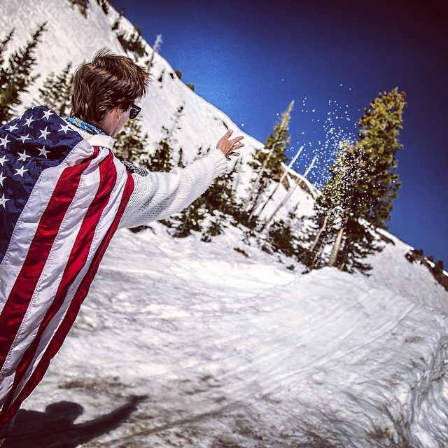 @bo_bot gettin his salt on for #America @snowbird #closingday #supportourtroops #memorialday #chinadust #needforspeed