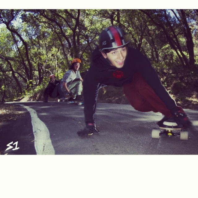 Check out www.s1helmets.com to watch Corey Hirschman, @f_cooper_d and Sam Hay session some #santabarbara #fireroads #downhill #skateboarding #skate #skatehelmet #happyplace #californiadreaming Filmed and edited by @valhallaskateboards . #shredsesh...