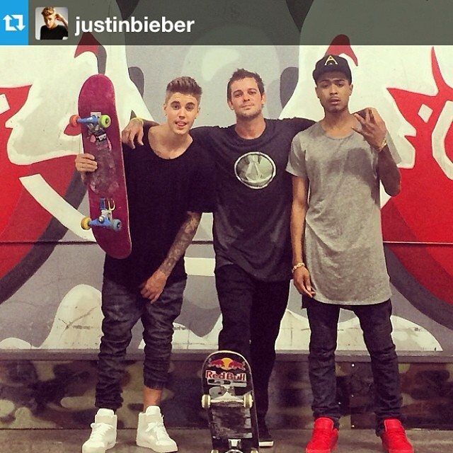 #Repost from @justinbieber with @repostapp --- Thanks Sheckler for having me and kalfanzo sk8 at ur park ♛