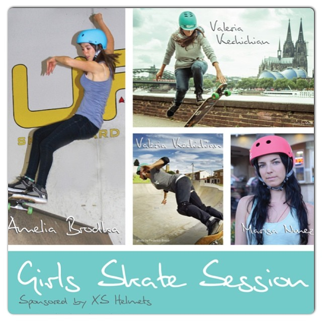 Mark your calandars! Join us for a free girls skate @sbcrestaurant indoor skateboard ramp. @ameliabrodka will be here in #vancouver so bring your board and meet us there! 6-8 pm #girlsskate #sbcrestaurant #xshelmets @skatelikeagirl @justyce_tabor...