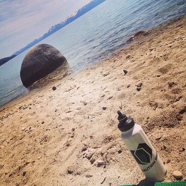 Why wait for the weekend when this is your backyard? #Tahoe #HiddenBeach #summerofshred