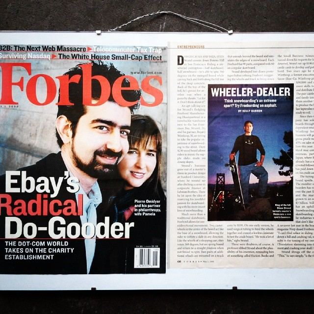 Freebord #tbt  Forbes Magazine circa 2000. Check the blog for more info/nostalgia