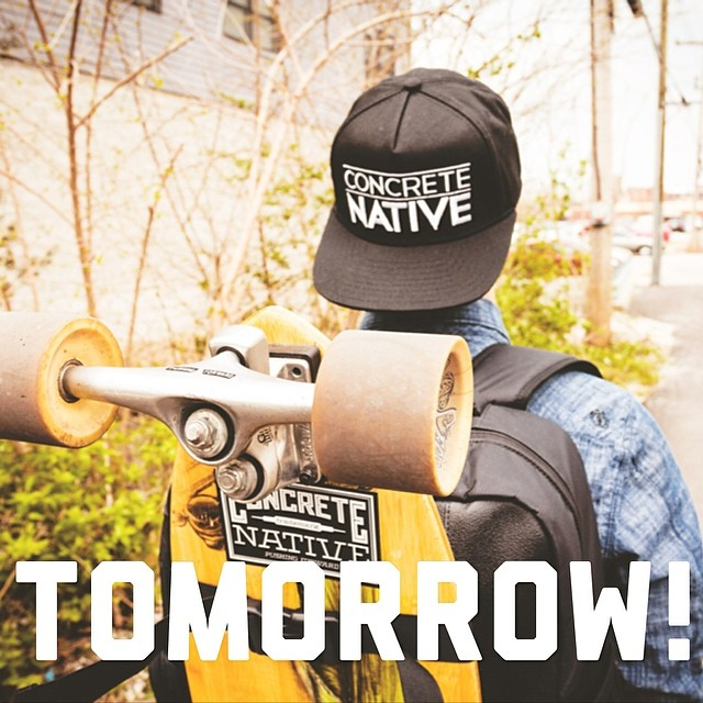 Site launch tomorrow! We want to thank everyone who has supported us while we got this thing going. Thank you for being patient with us! #comingsoon #concretenative #pushingforward #sk8life #skatelife #longboardlife #longboard