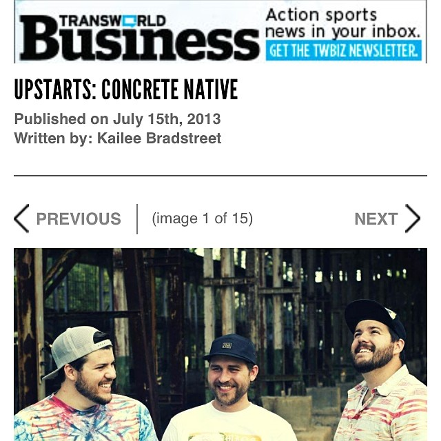#tbt to that time we were featured on Transworld Business! (Google: concrete native transworld business) If you haven't read it before go check it out! Then hit up our web launch this Saturday! @transworldbiz #concretenative #comingsoon #sk8life...