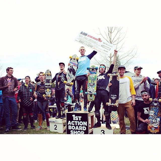 Congrats to team rider @maxvickers for taking first place at Rage at the Ridge! #pushingforward #concretenative #michigan #downhill