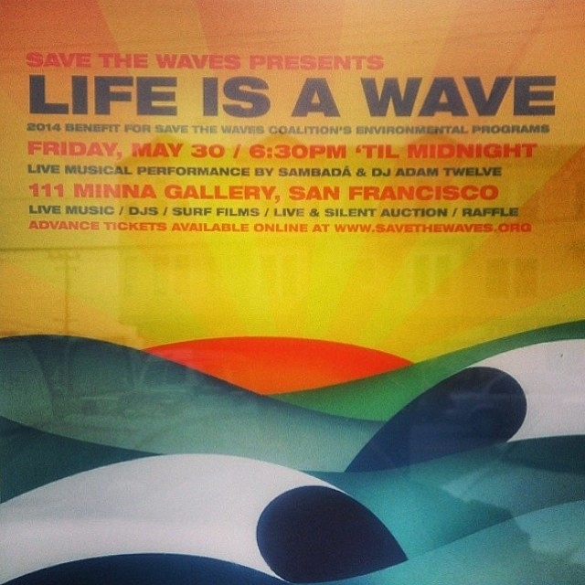 Looking forward to hearing @surfnavarro speak at the Save the Waves fundraiser @stwcoalition at 111 Minna. Should be a great night in San Francisco! Come on down to bid on a ton of great auction items including a trip to Mexico and a Local Honey...