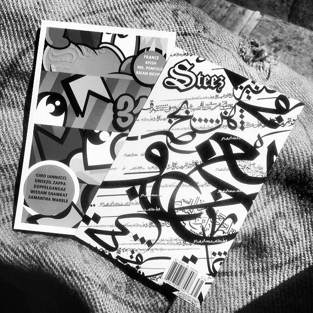 Sleeves off. #issue31 #steezmagazine #sunsoutgunsout @mrpenfold #wissamshawkat #mrpenfold #wissamshawkat #calligraffiti #streetart