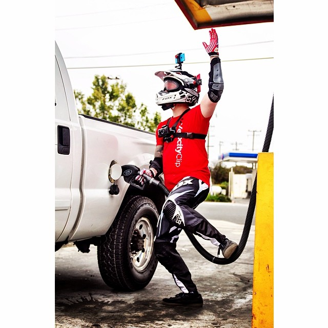 Oh, just a normal day at the gas station with some dirt bike gear and Velocity Clips EVERYWHERE. #fun #giveaways •••••••••••••••••••••••••••••••••••••••••••••• ⊙ Videos of our adventures in Richmond, CA and San Francisco, CA in the next couple of...