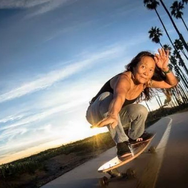 Dogtown skater Judy Oyama still owning it. Mad respect. Photo? #longboardgirlscrew #girlswhoshred
