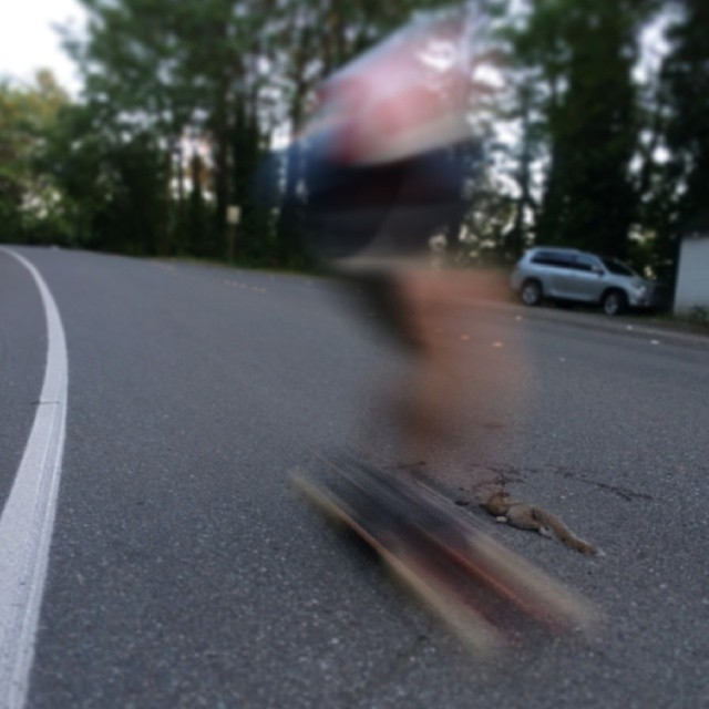 #roadkill #dblb #longboarding #seattle @johnnysmallskates @iambradleycameron