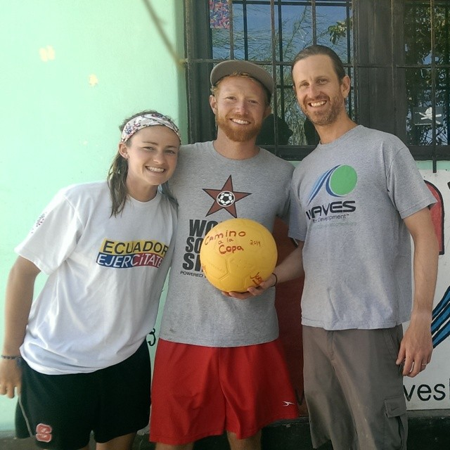 Big thanks to Roddy & Jordan for stopping by #Lobitos and donating a soccer ball to WAVES & the community on their epic road trip from Colorado to the World Cup in Brazil! #caminoalacopa