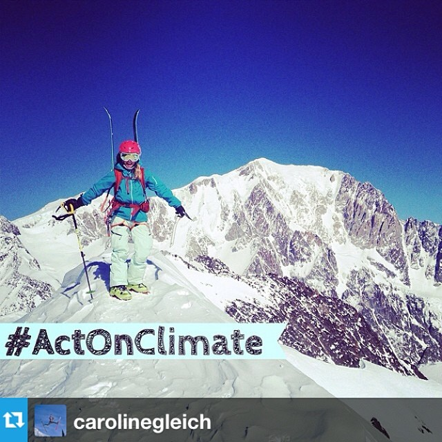 We support #actonclimate, do you? #Repost from @carolinegleich with @repostapp --- Before I went to Chamonix, I was shopping for a guidebook. I thought I found a good one, but my friend said, don't buy that book, we call that the book of death. Why the...