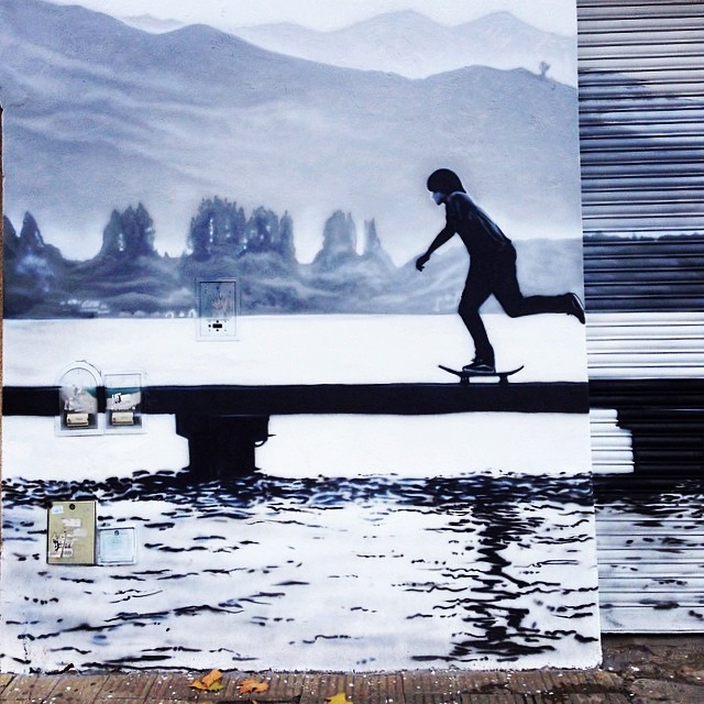 #streetart #arteurbano #skate #street #aerografía #spray #mural #palermo #urbanlife #boy