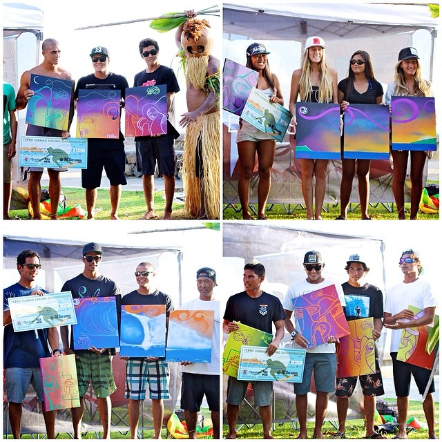Congrats to all the finalists for the Team Challenge, Women's Shortboard, and the Men's Longboard and Shortboard divisions in Hawaii Surfing Championship this past weekend! Also a big mahalo to @whatyouthinkaboutthat for the amazing artwork that the...